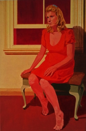 Jesse Dayan Before the Window, Oil on Canvas, 76 x 50cm, 2010