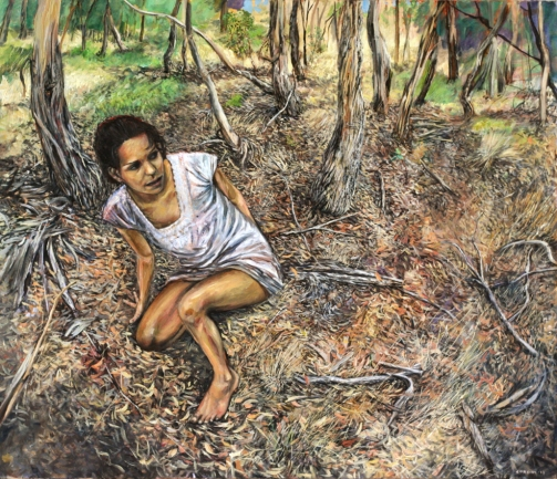Marco Corsini, The unforeseen, 2013, oil on linen, 60 cm. x 70 cm.