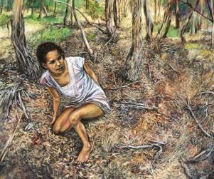 Marco Corsini, The unforeseen, 2013, oil on linen, 60 cm x 70 cm