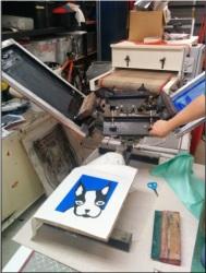 Lauren screen printing