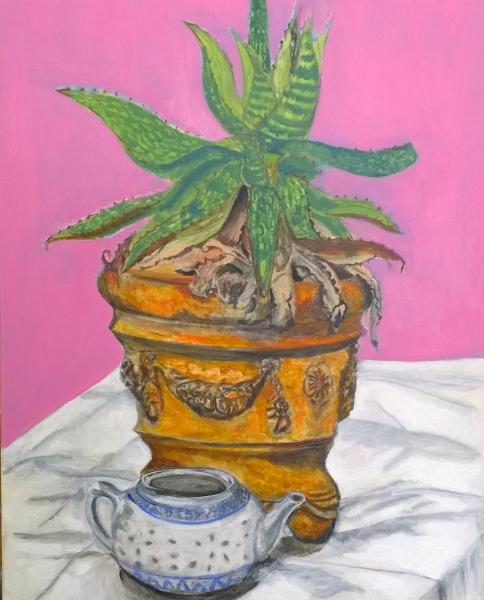 Ethel, acrylic on canvas