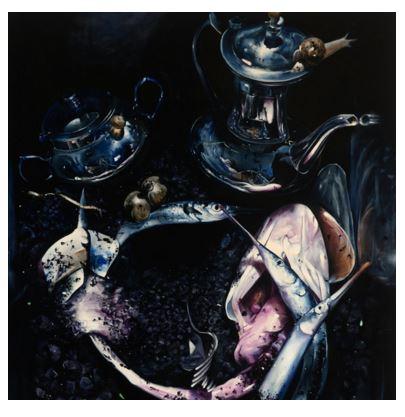 Naked Maja, Adrian Stojkovich, Oil on canvas , 2009