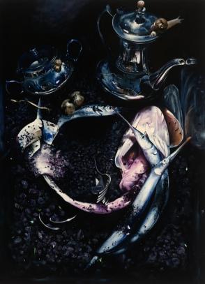Adrian Stojkovich Naked Maja Oil on Canvas 220 x 180 cm, 2009