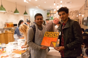 Painting Workshop at Nando's with Hilmi Baskurt, 2016