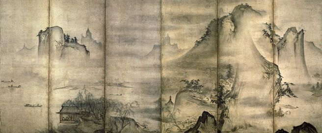 Landscape of the Four Seasons, Tensho Shubun, early 15th century