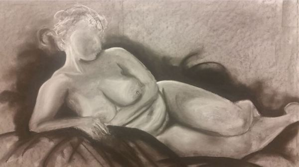 Ivana, charcoal on paper, March 2016