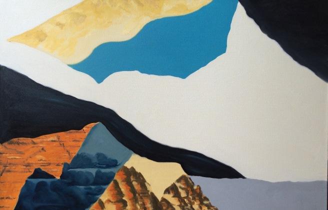 Christina, mixed media on canvas