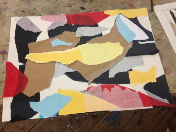 Karin, paper collage