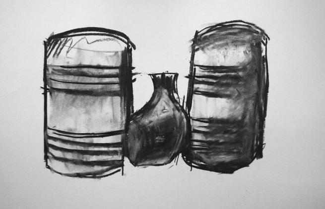 Taku, charcoal on paper, 2016